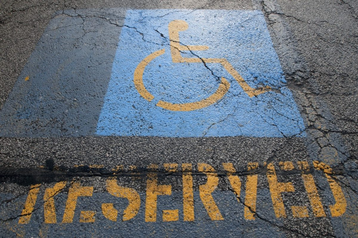 handicap reserved parking spot