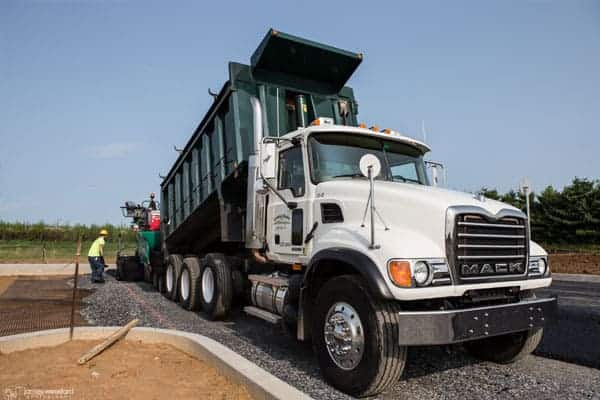 commercial paving truck