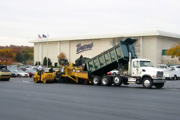 Commercial Paving parking lot